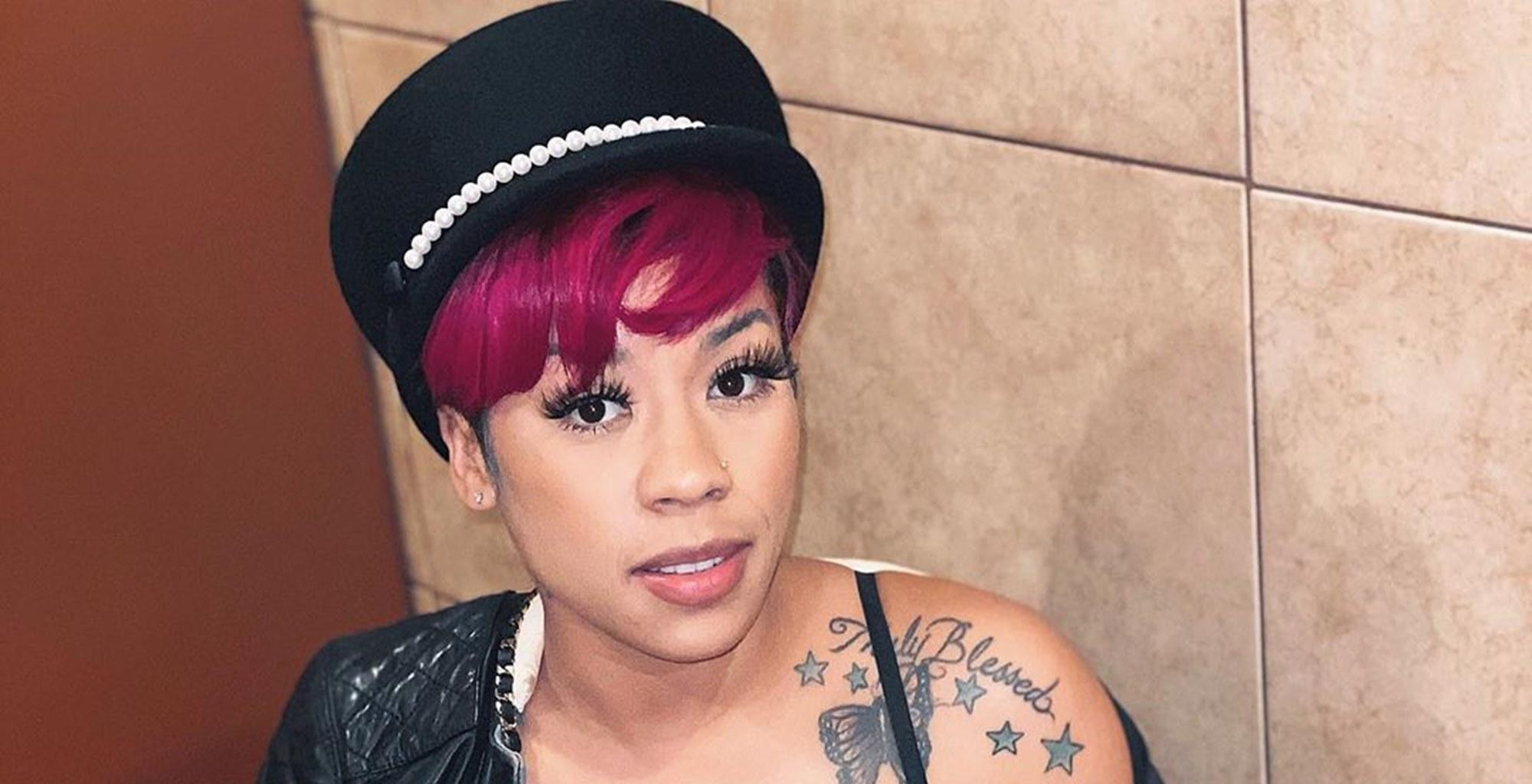 Keyshia Cole Slays Bright Blue Hair Color In New Photos --  Niko Khale's Girlfriend Confirms That She Is Often Imitated But Never Duplicated