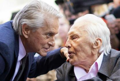 Michael Douglas Claims Some Of His Father Kirk's Last Words Were Support For Presidential Candidate Mike Bloomberg