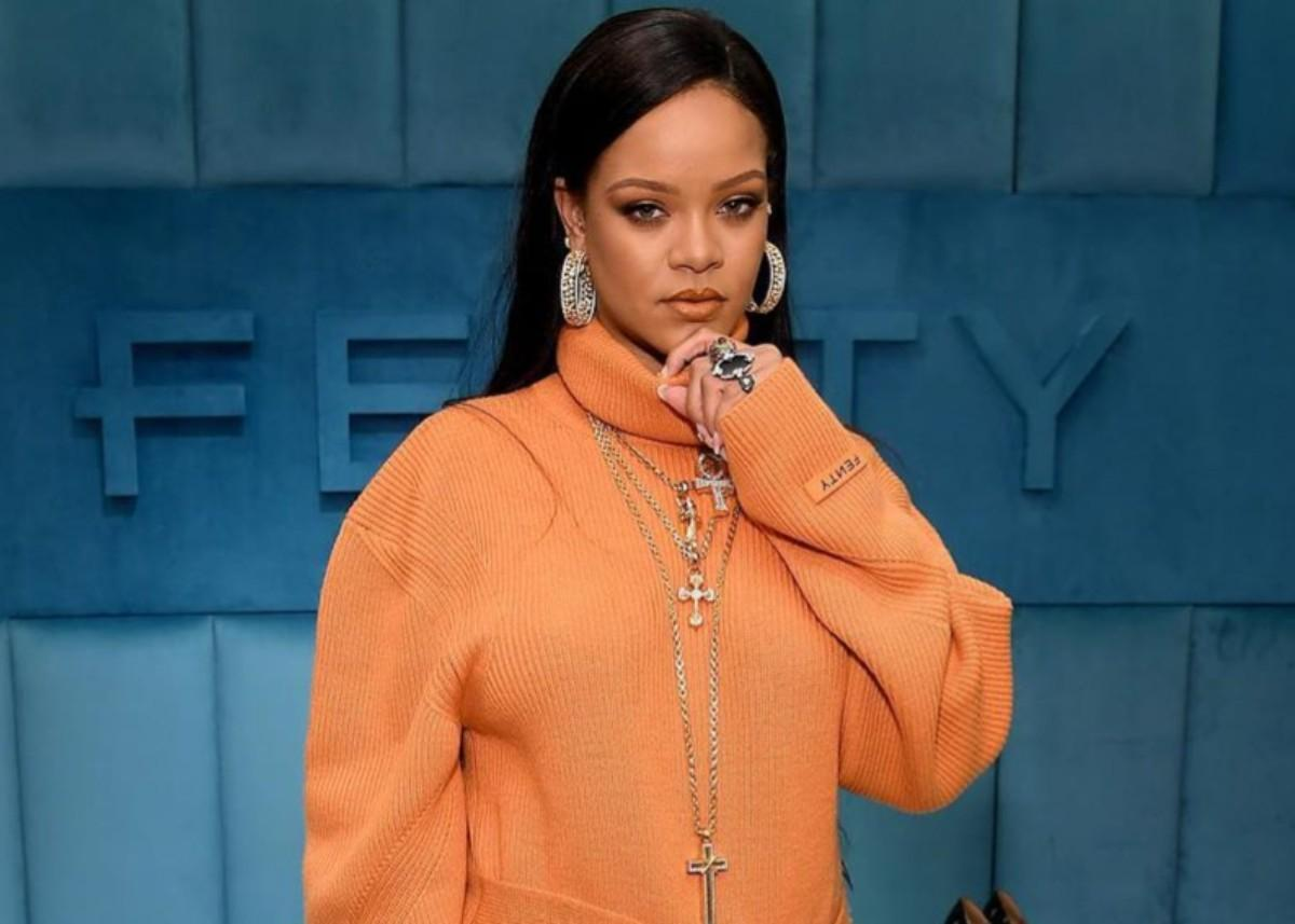 Rihanna Debuts Tangerine Fenty Outfit — Check Out The Look
