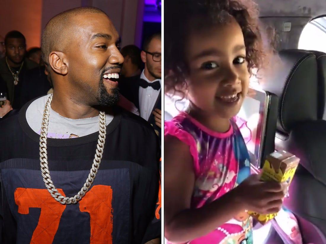 Kanye West Proudly Watches Daughter North Rap Her Own Original Song At School Dance - See The Video!