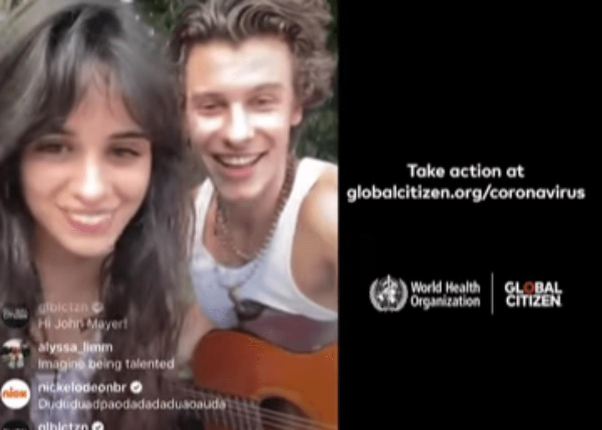 Watch Lovebirds Shawn Mendes And Camila Cabello Give No Contact Coronavirus Global Citizen Concert As They Self Isolate Together
