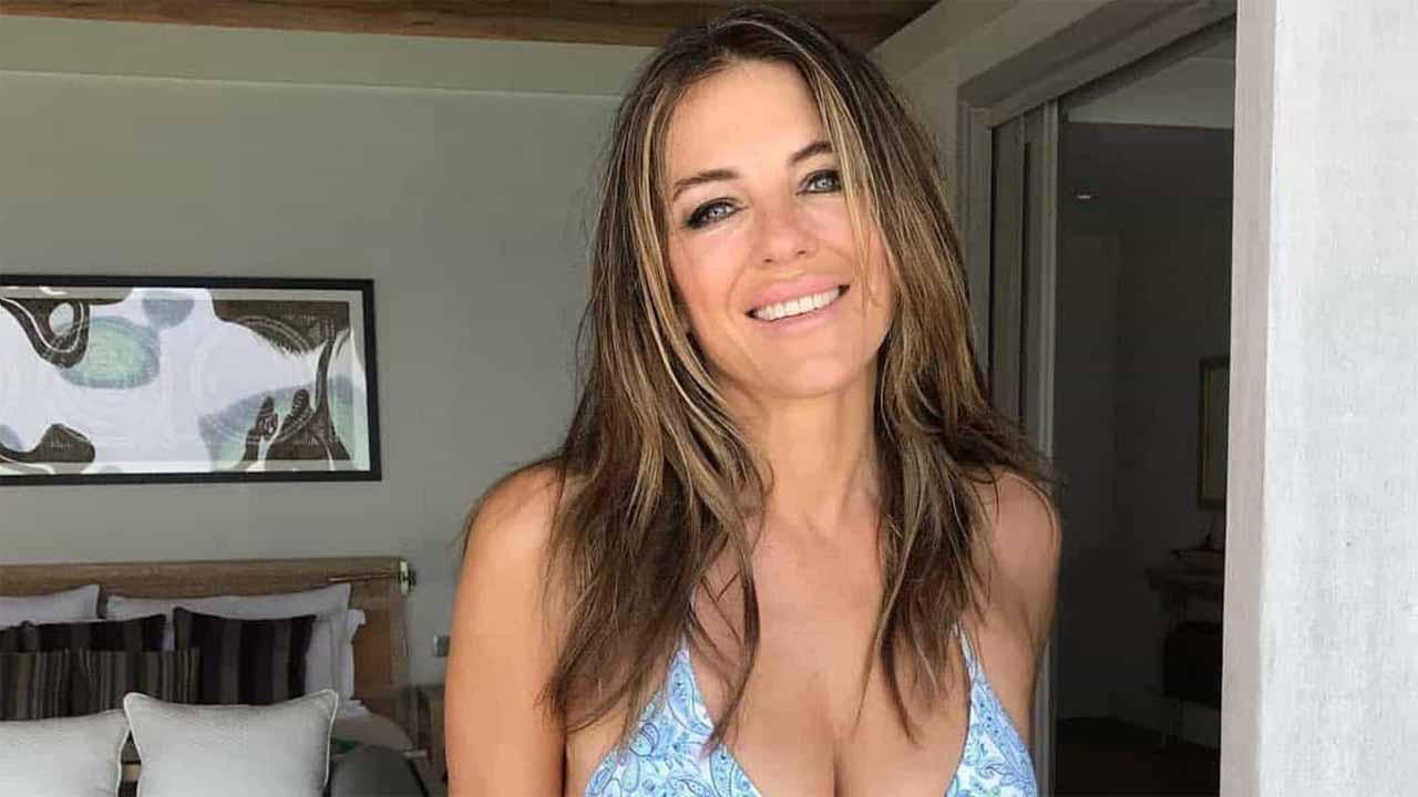 Elizabeth Hurley Poses In Hot Mini Dress After Washing Her Hair For The First Time In 2 Weeks Amid The Quarantine - So Relatable!