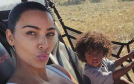 Saint West Is Adorable In A Buggy With Mom Kim Kardashian