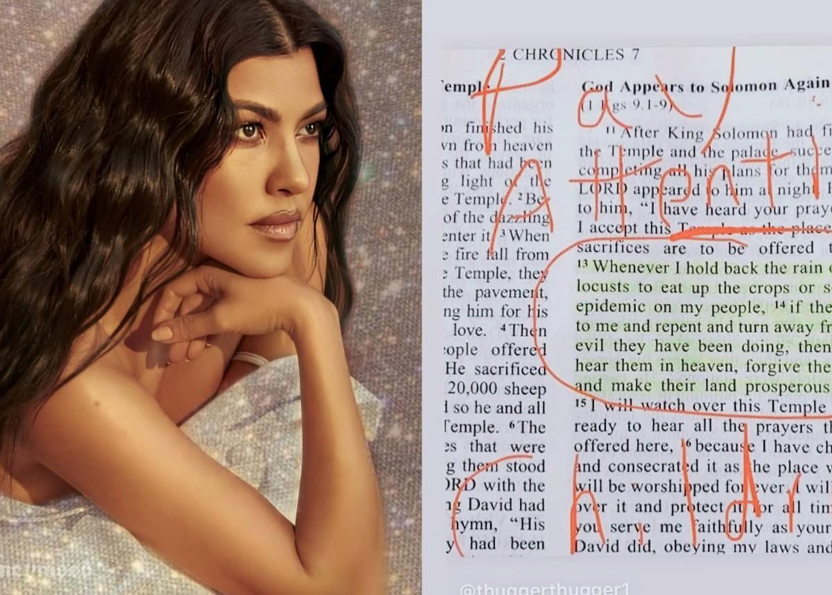 Kourtney Kardashian Shares Bible Verse From 2 Chronicles In Response To Coronavirus — Does She Think God Is Punishing The World For Sin?