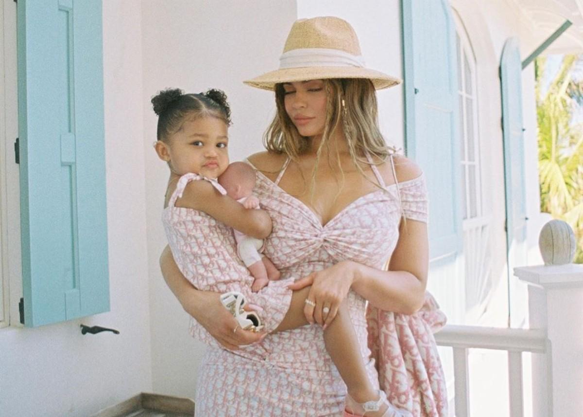 Kylie Jenner And Stormi Webster Are Twinning In Matching Dior Mini Dresses