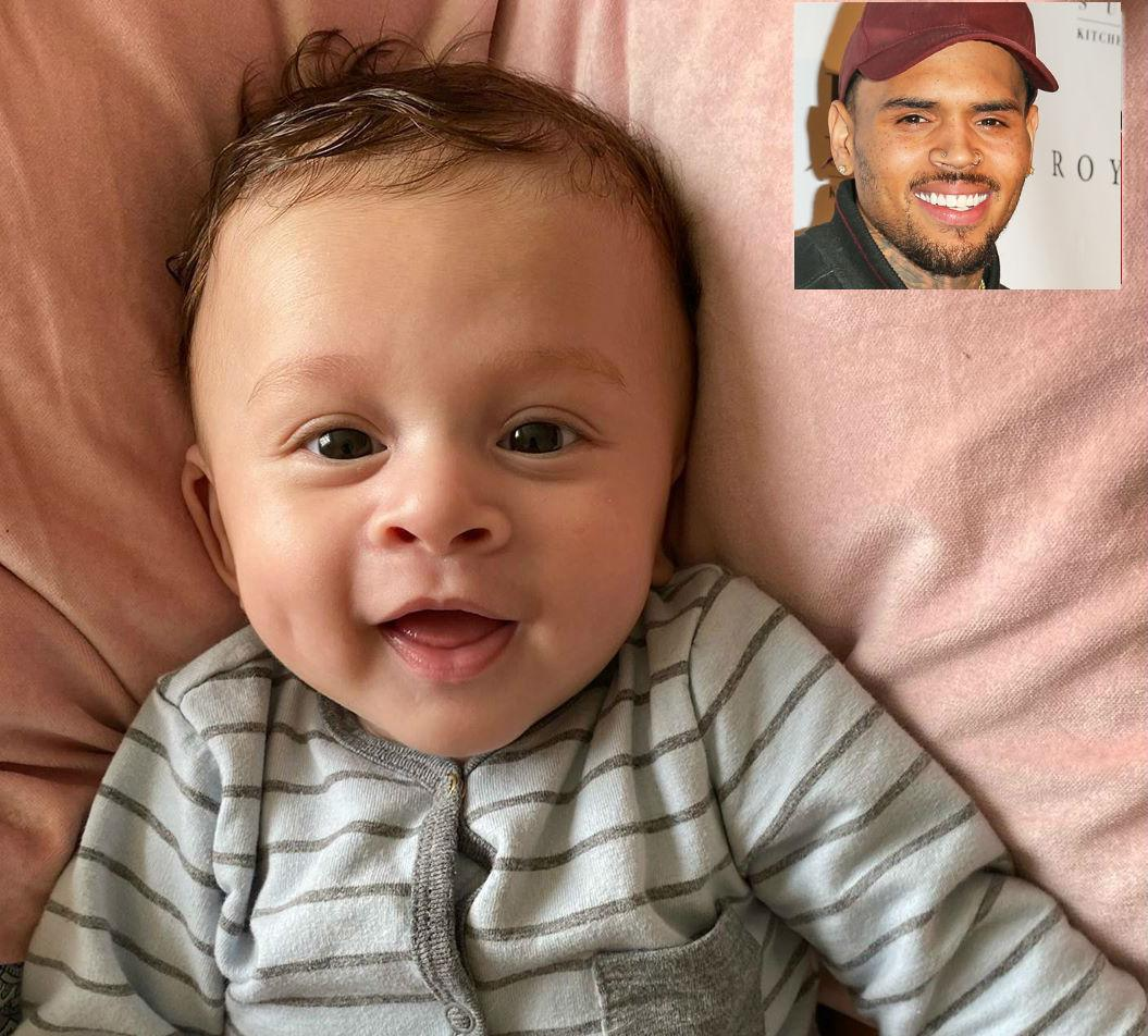 Chris Brown Posts Adorable Pic Of Baby Aeko 'Dreaming In Color' While He's Still Stuck In Europe With His Mom Amid The Coronavirus Pandemic