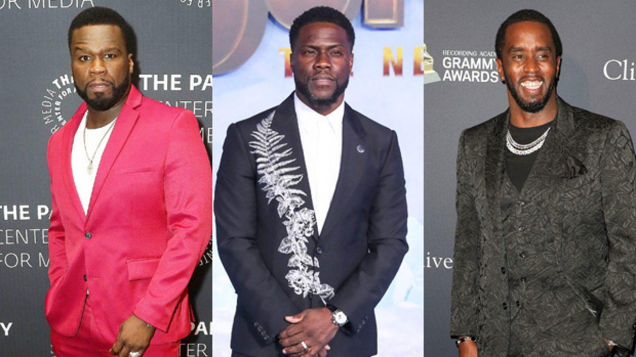 50 Cent Shades Kevin Hart And Diddy For Getting 'Old' After They Show Off Their Salt And Pepper Hair In Quarantine