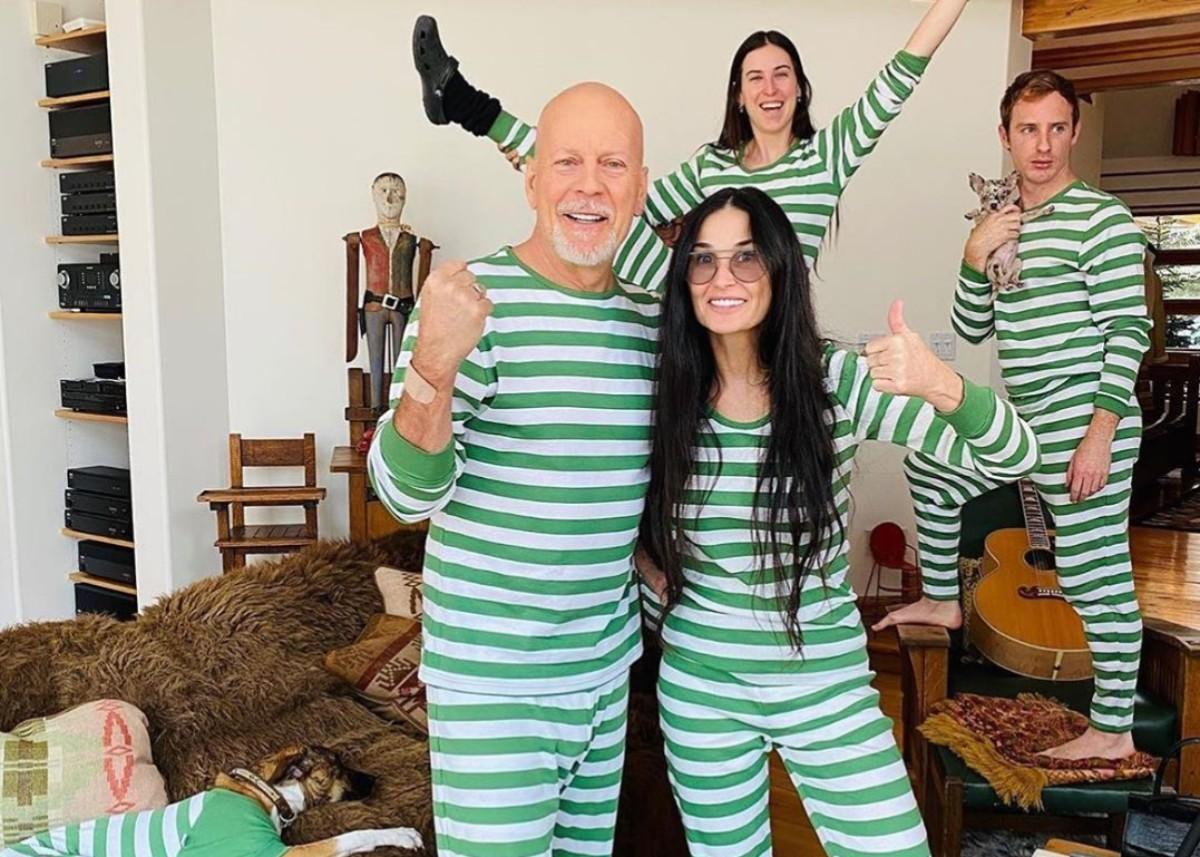 Bruce Willis Is Quarantining With Demi Moore And Their Kids Instead Of His Wife And People Have Questions