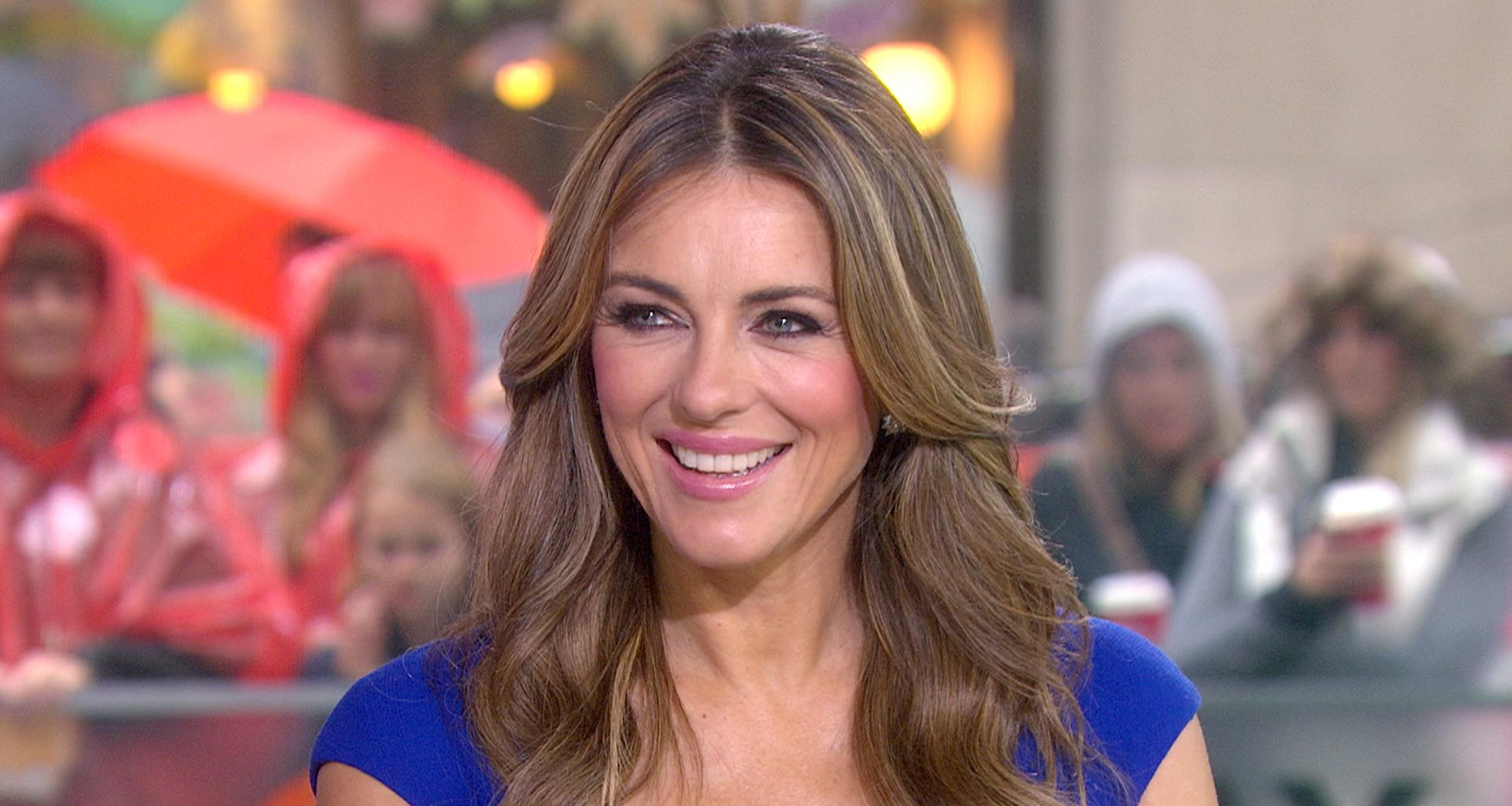 Elizabeth Hurley Shows Off Her Toned Abs In Pic With Her Mom On Her 80th Birthday