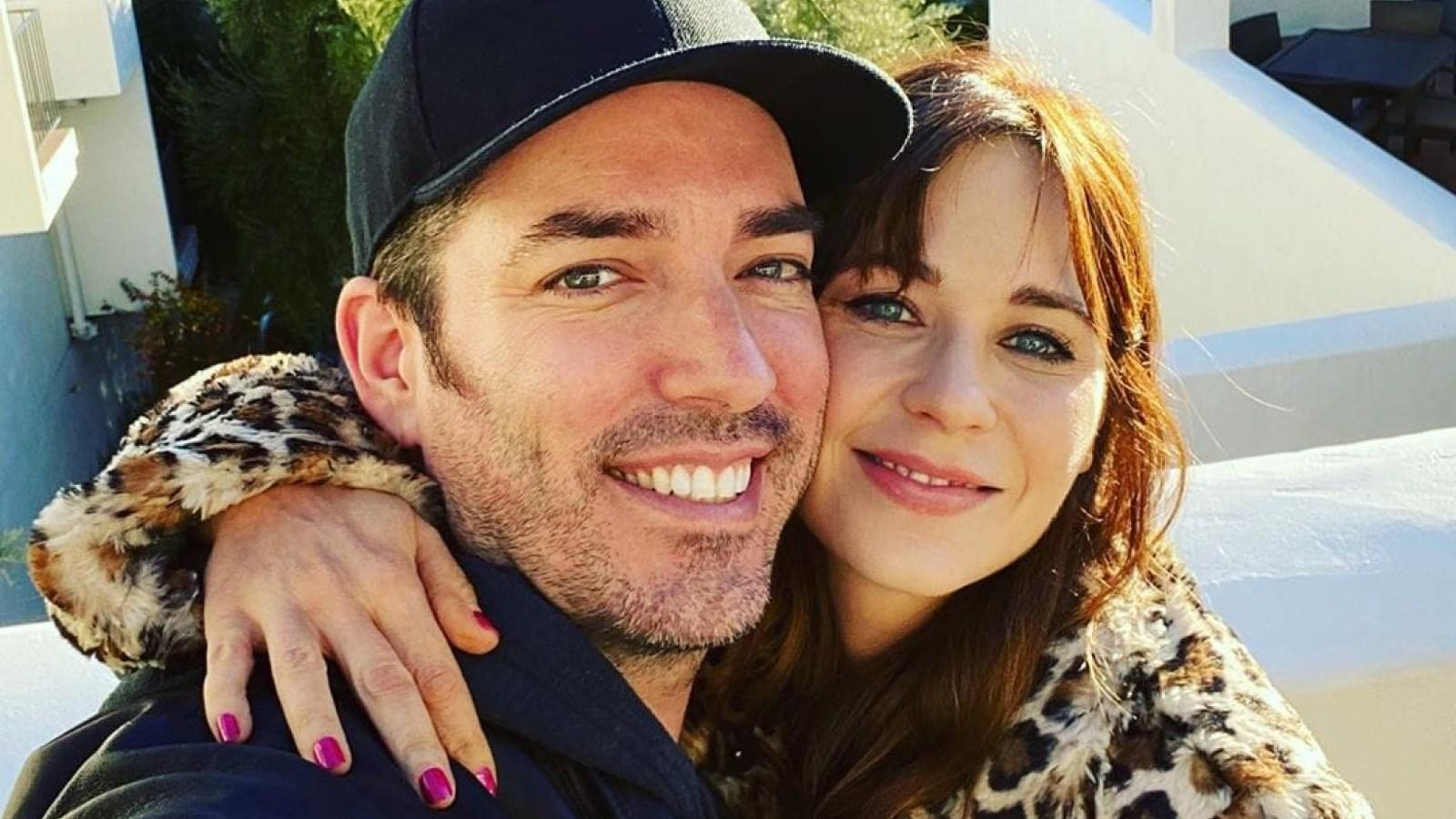 Zooey Deschanel Posts Adorable Message And Pic On Beau Jonathan Scott's Birthday!