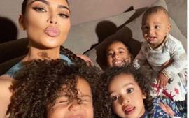 Kim Kardashian Shares Photos Of Chicago West As She Keeps Busy During Quarantine Organizing Her Phone