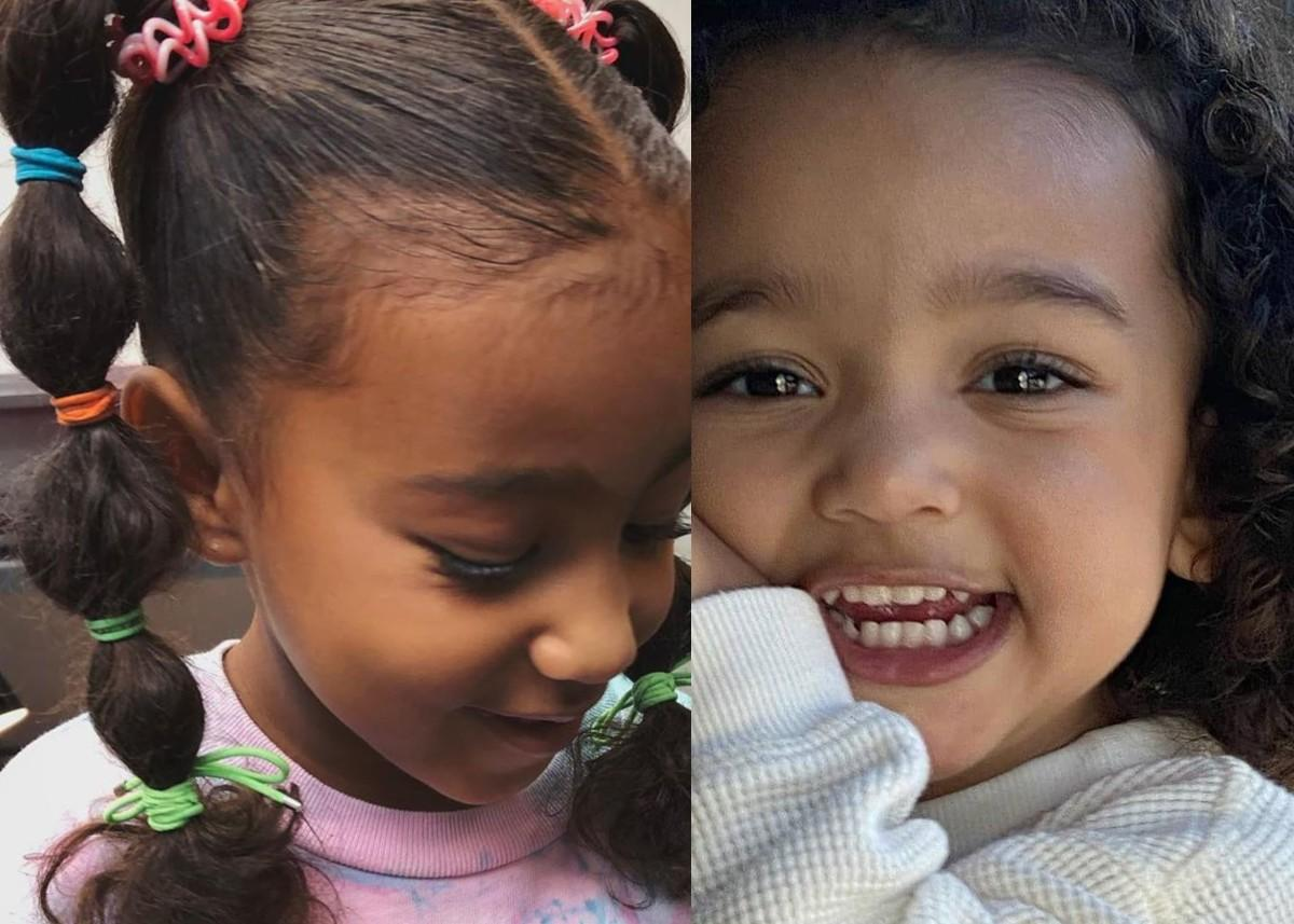 Kim Kardashian Is Learning New Hairstyles For North And Chicago While Social Distancing