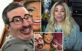 Wendy Williams Sends John Oliver A Massive Painting Of Her Eating Amid Their Hilarious Back And Forths!