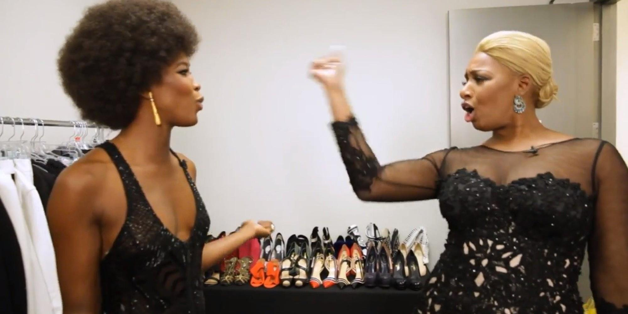 NeNe Leakes Does Some Catwalk Moves Together With Naomi Campbell - See The Video
