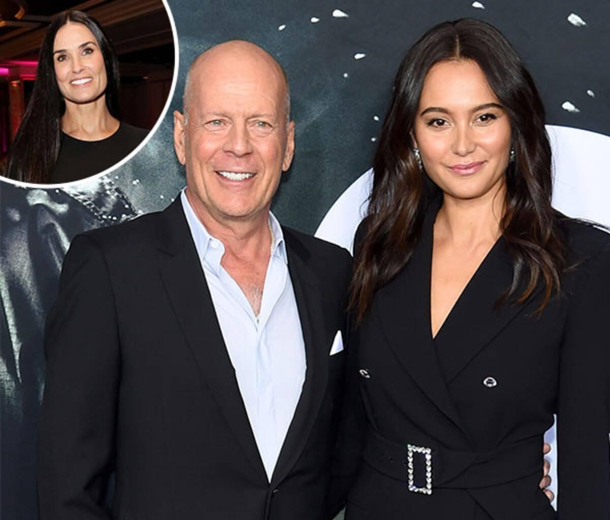 Bruce Willis, Former Wife Demi Moore And Current Wife Emma Bonding In Joint Quarantine - Check Out Their New Video!