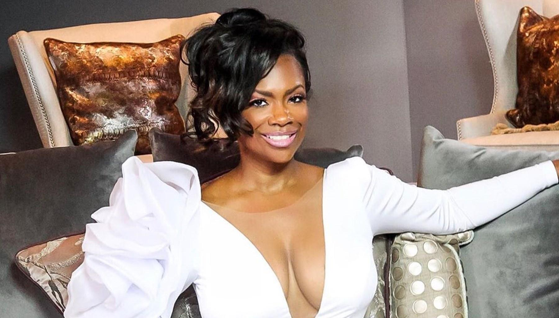 Kandi Burruss Brings The Drama In New Photos With A Revealing Outfit That Features A Deep-Plunging Neckline -- Husband Todd Tucker's Day Just Got Brighter