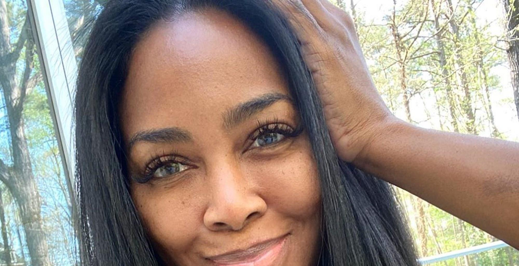 Kenya Moore Shares A Throwback Photo From Her Modeling Days - See it Here