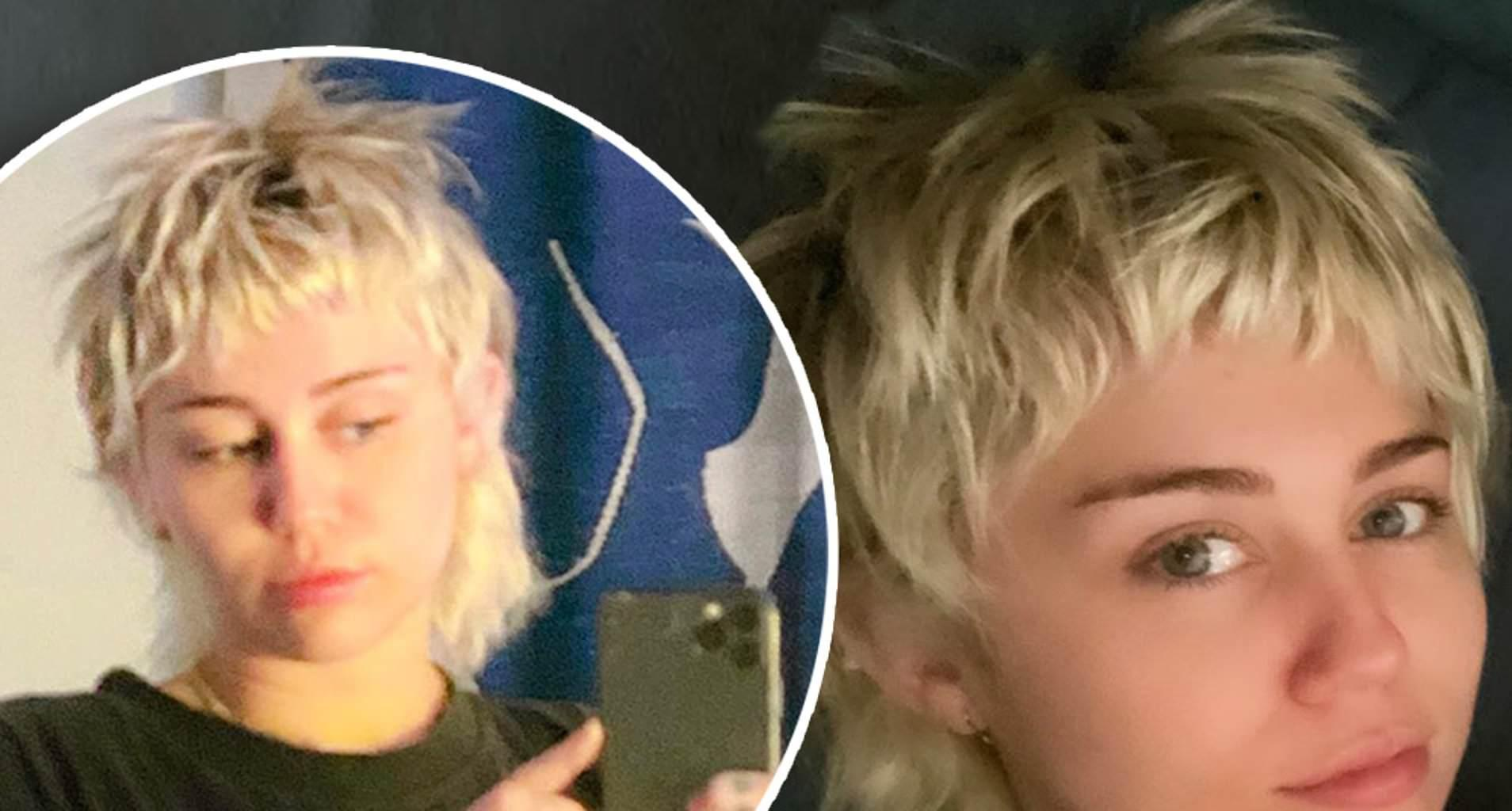 Miley Cyrus Cuts Her Hair In Quarantine - Check Out The Pixie-Mullet 'Do!
