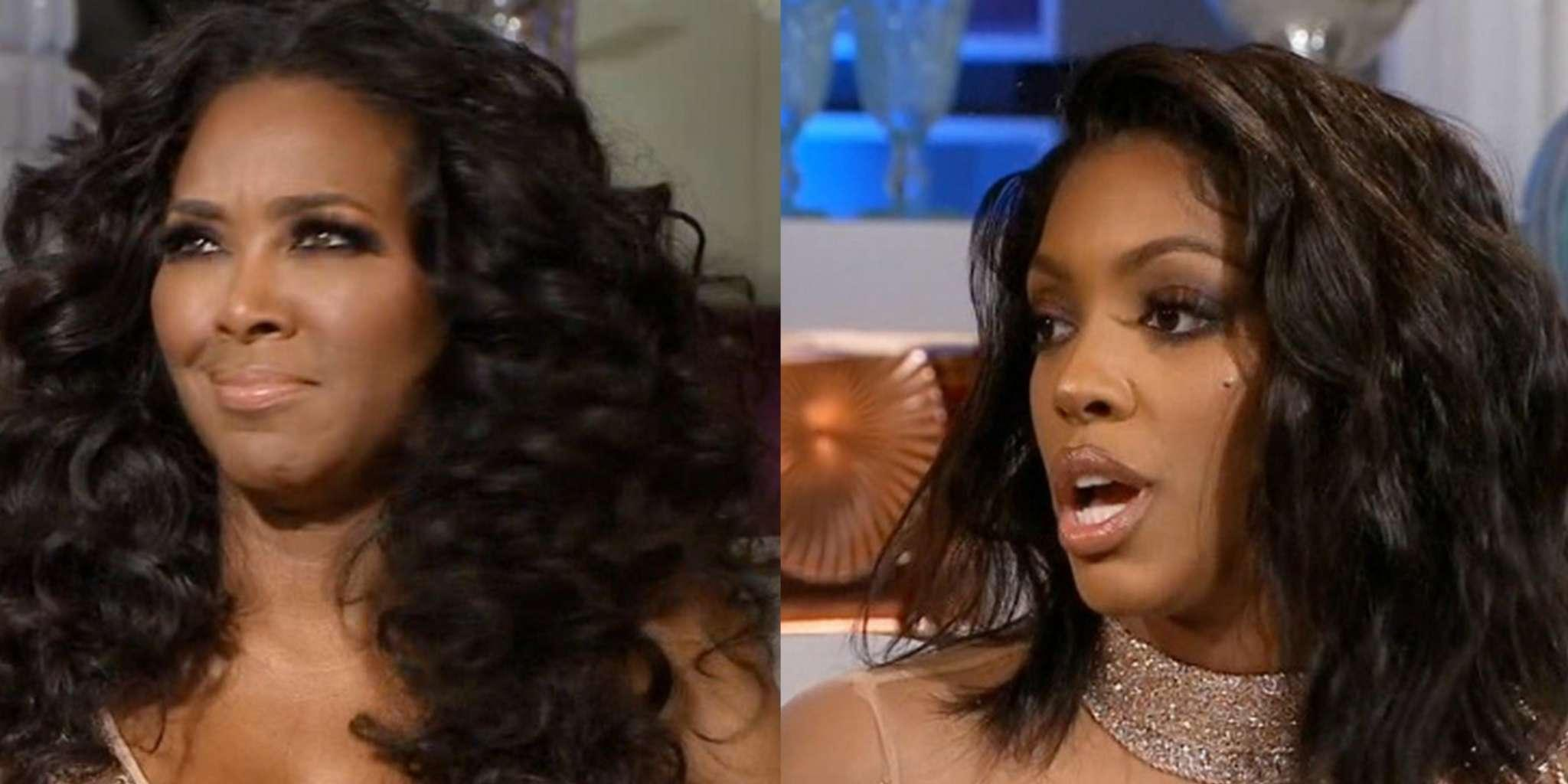 Kenya Moore Exposed By Porsha Williams For Trashing Cynthia Bailey -- See The Clip That Has Fans Shocked
