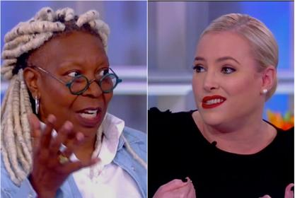 Whoopi Goldberg Cuts To Commercial To Stop Clash With Meghan McCain On The View!