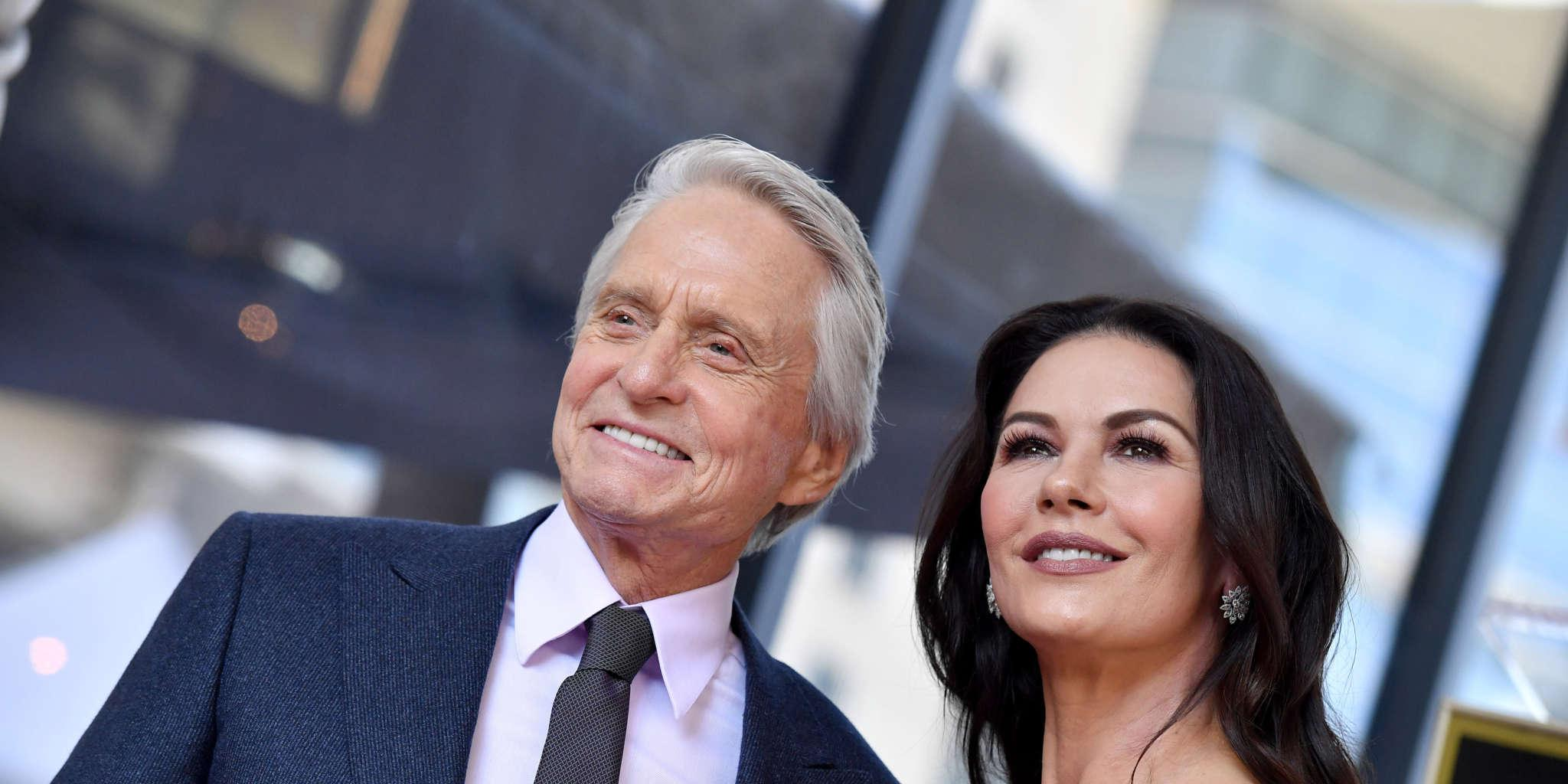 Catherine Zeta-Jones Posts Throwback Pic Of Husband Michael Douglas With His 3 Kids On Father's Day!