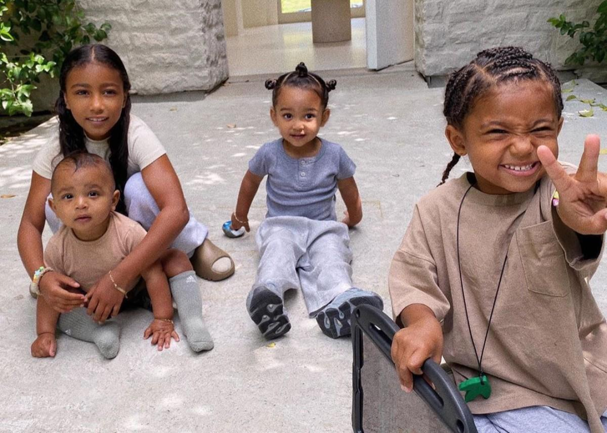 Kim Kardashian Shares Sweet Photo Of Her Children — North, Saint, Chicago, And Psalm West