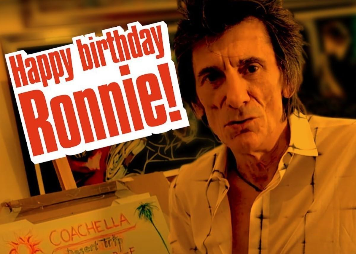 Happy Birthday Ronnie Wood — Rolling Stones Guitarist Is 73