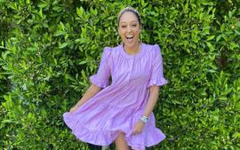 Tia Mowry Is The Epitome Of Goddess And Serenity In Red Bathing Suit Photo