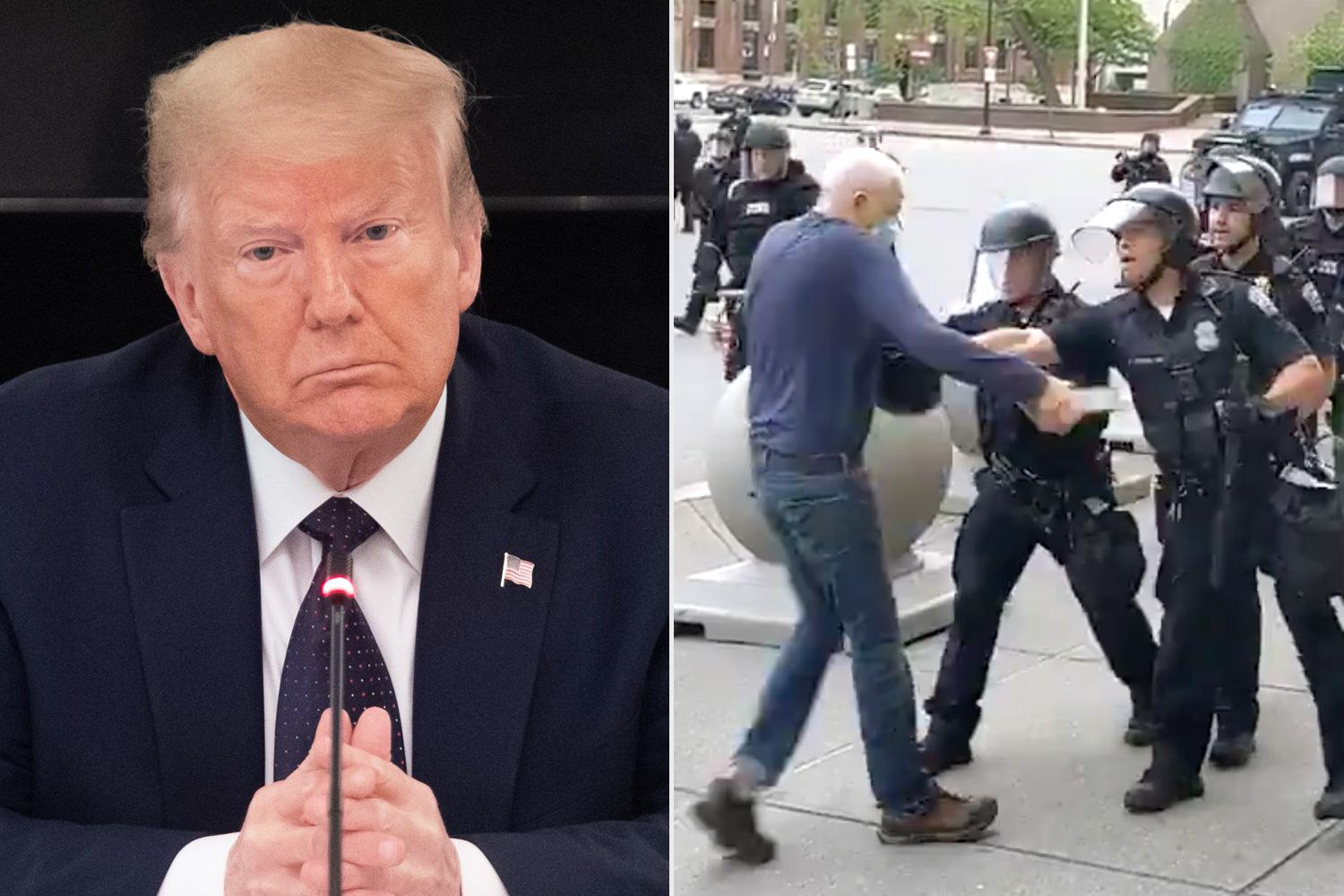Martin Gugino - Elderly Protester Assaulted By Police Responds To Donald Trump's Theory That He 'Set Up' His Attackers!