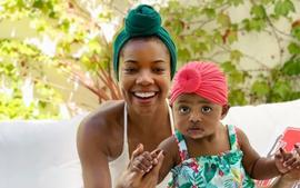 Gabrielle Union Poses With Kaavia James And Fans Say She Has A Remy Ma Expression