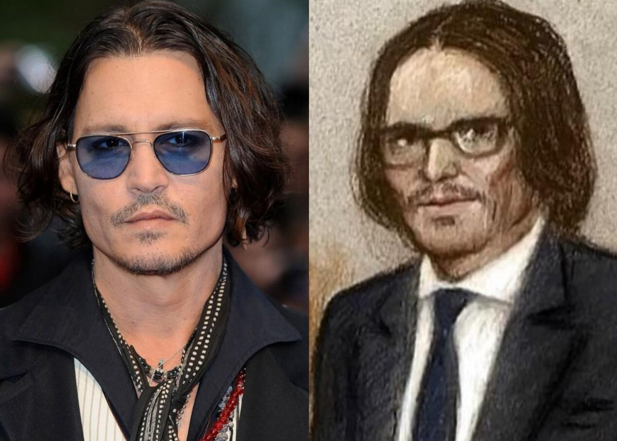 Johnny Depp Is That You? Court Artist Blasted On Twitter For Unrecognizable Drawing Of Actor