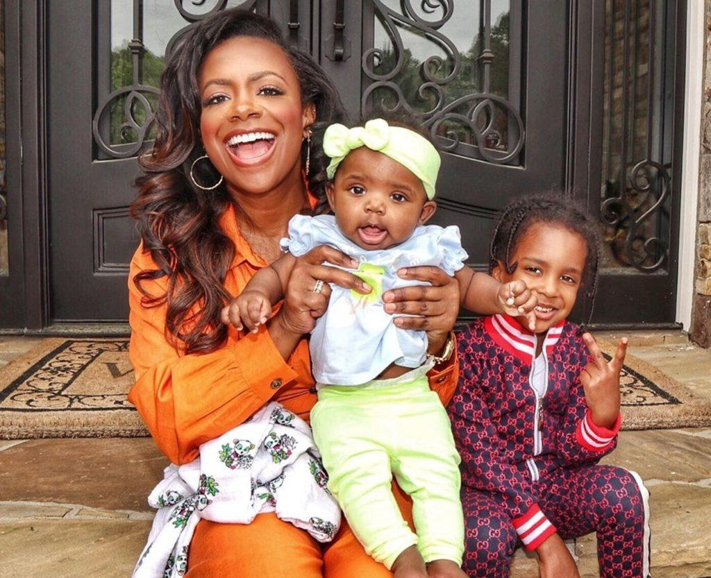 Kandi Burruss Shows Off Her Makeup-Free Look While Caring For Blaze Tucker