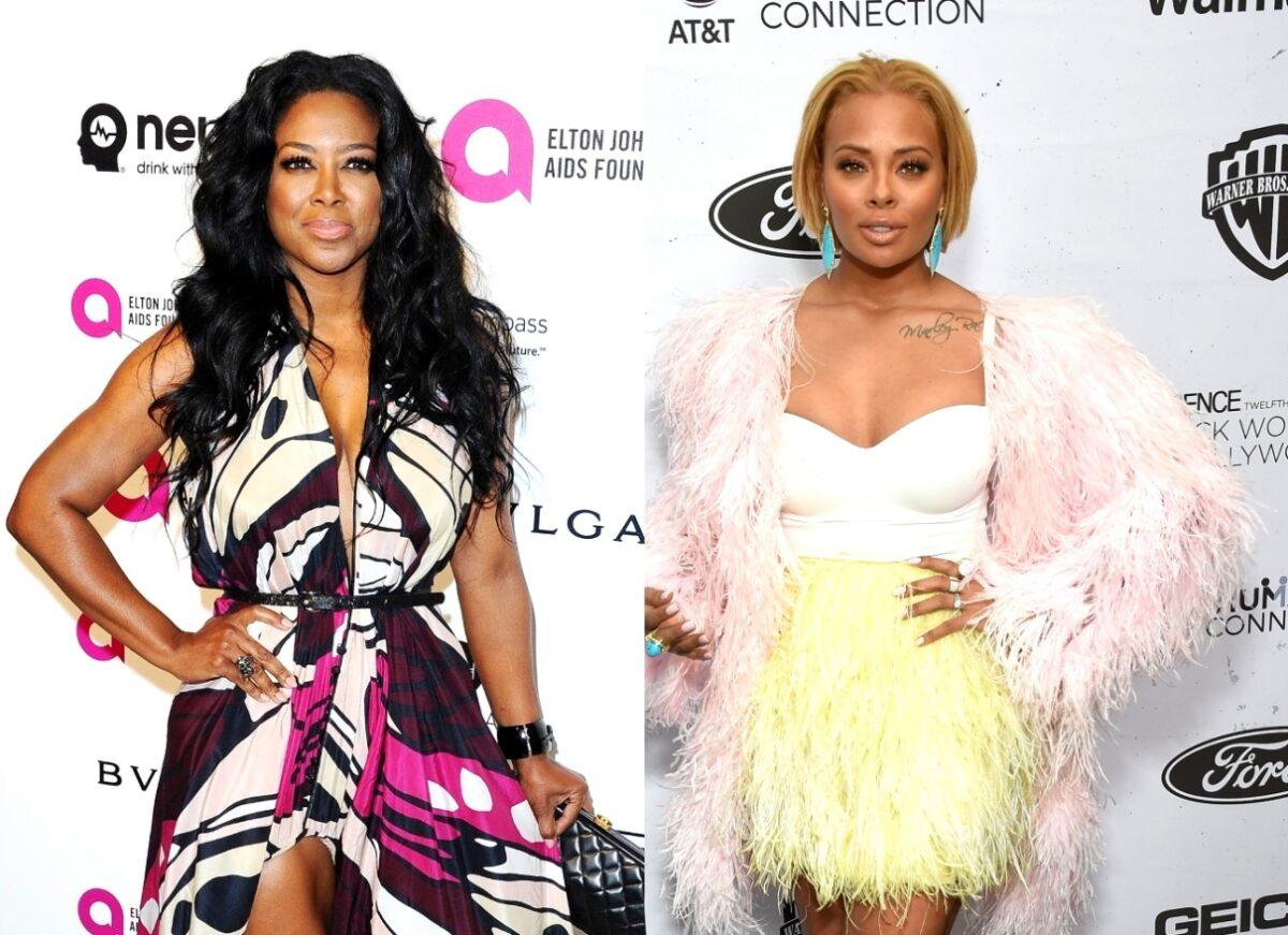 Kenya Moore's Baby Girl Brooklyn Daly And Eva Marcille's Boy Mikey Are Posing Together