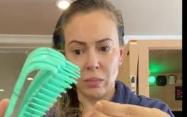 Alyssa Milano Shows Off Her Shocking Hair Loss After Testing Positive For Covid-19