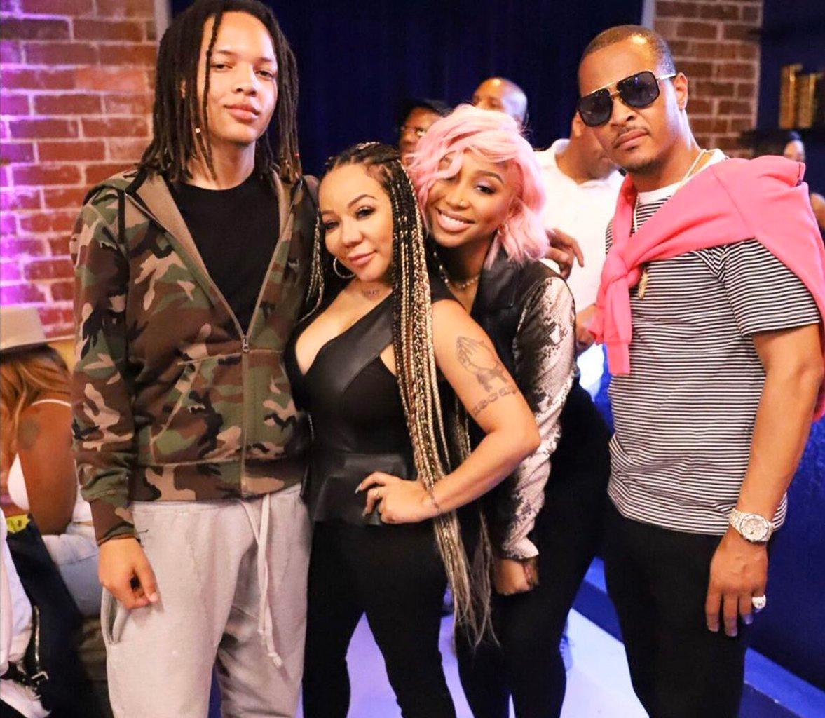 T.I. And Tiny Harris Visited The King George Floyd Memorial - See The Video