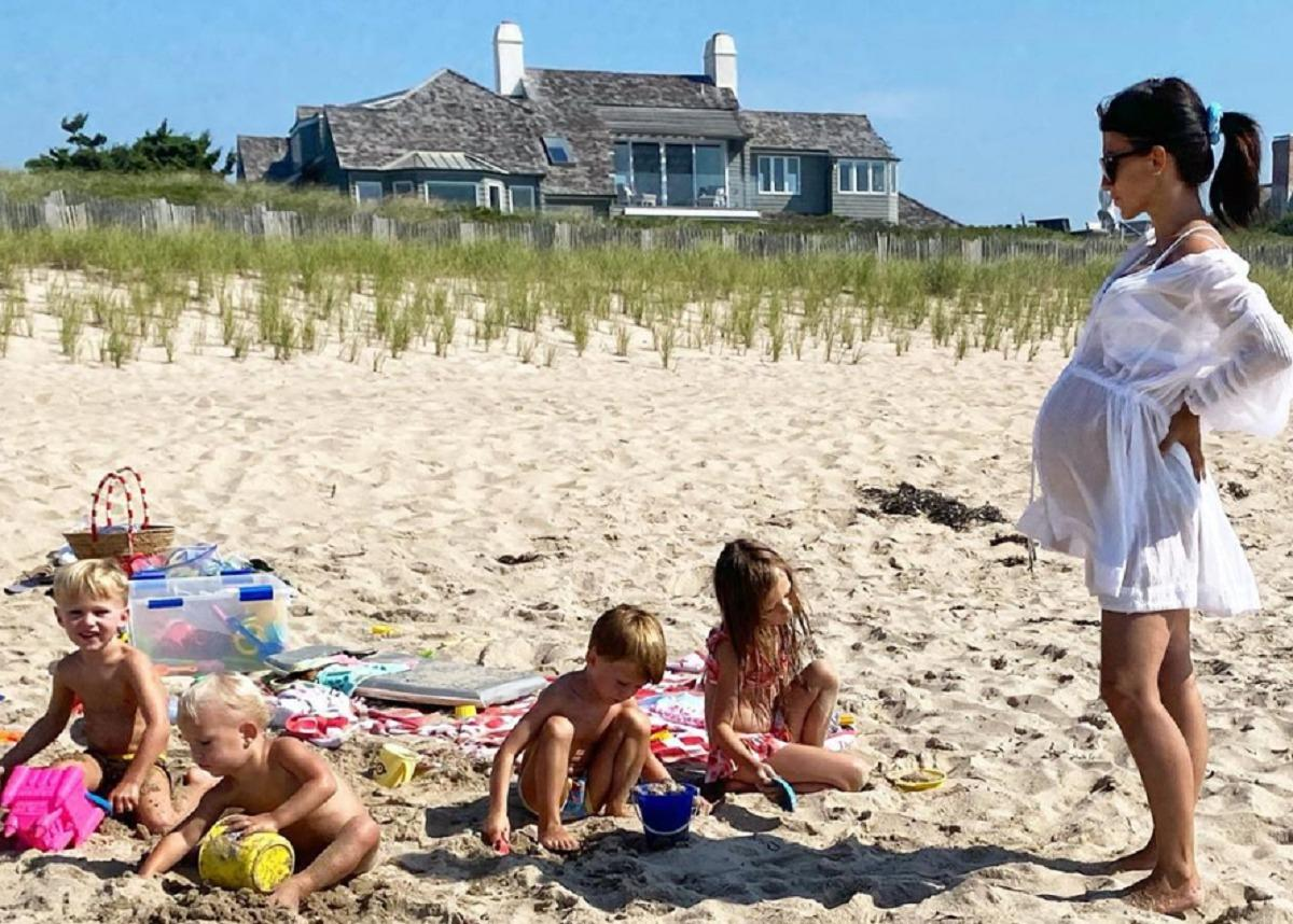Hilaria Baldwin Shows Off Baby Bump In New Beach Photos With Alec Baldwin And Their Kids
