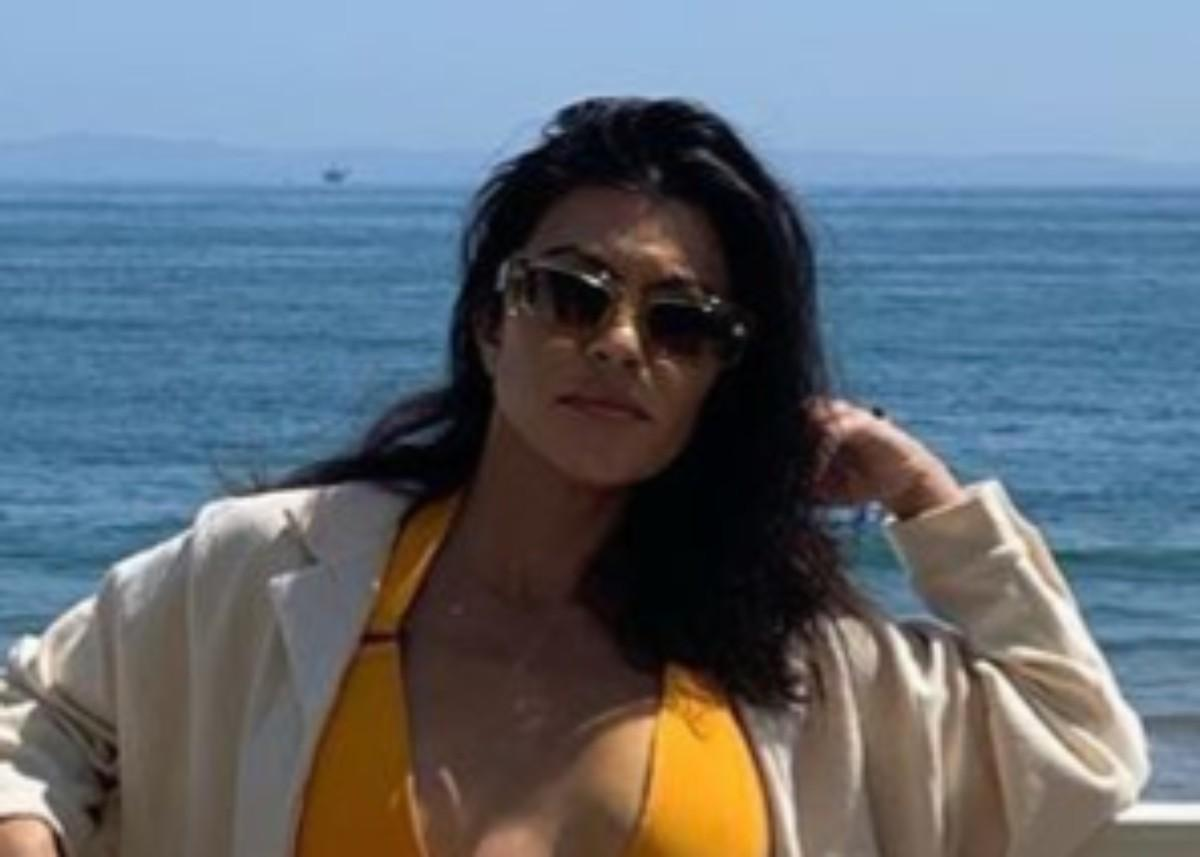 Kourtney Kardashian Is Gorgeous In Montce Two Piece Bathing Suit While On A Beach Trip With Scott Disick