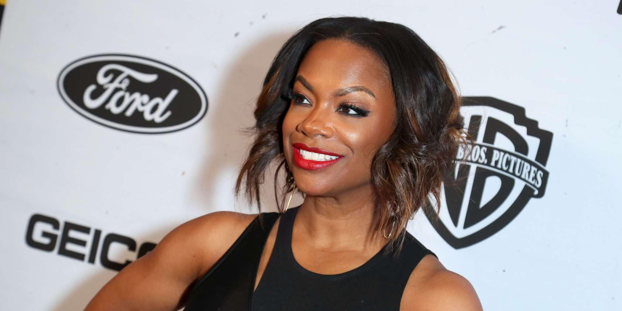 Kandi Burruss' Extra Pounds Are Going To The Right Places - See Her Jaw-Dropping Curves In This Red Dress!