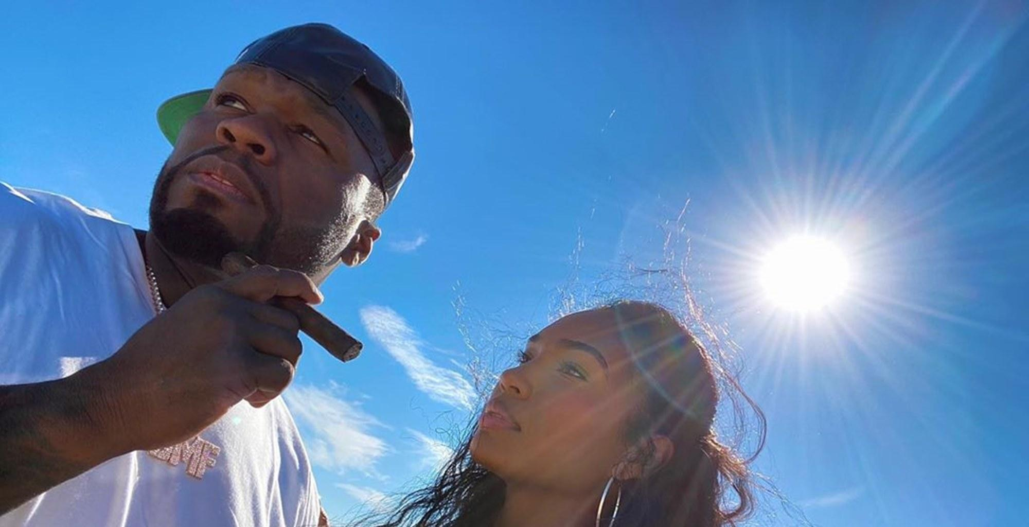 """50 Cent And Girlfriend Jamira """"Cuban Link"""" Haines Get All Cute In New Videos -- Some Fans Are Still Not Ready To Give The 'Power' Producer A Pass"""