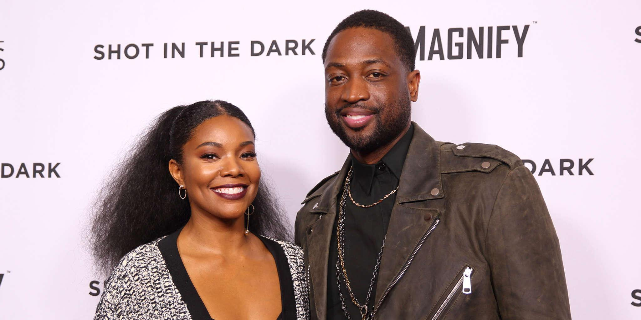 Gabrielle Union's Photos With Dwyane Wade And A Rainbow In The Background Mesmerize Fans