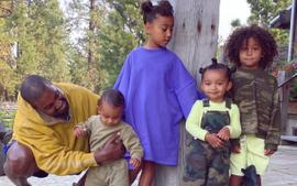 Kim Kardashin Shares Family Photo With Kanye West And Their Four Children North, Saint, Chicago, And Psalm West