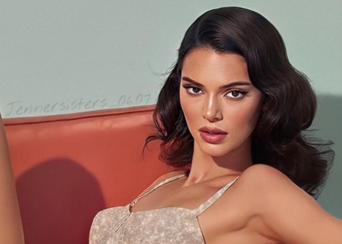 Kendall Jenner Stuns In Brown Maxi Dress With Slicked Hair Look
