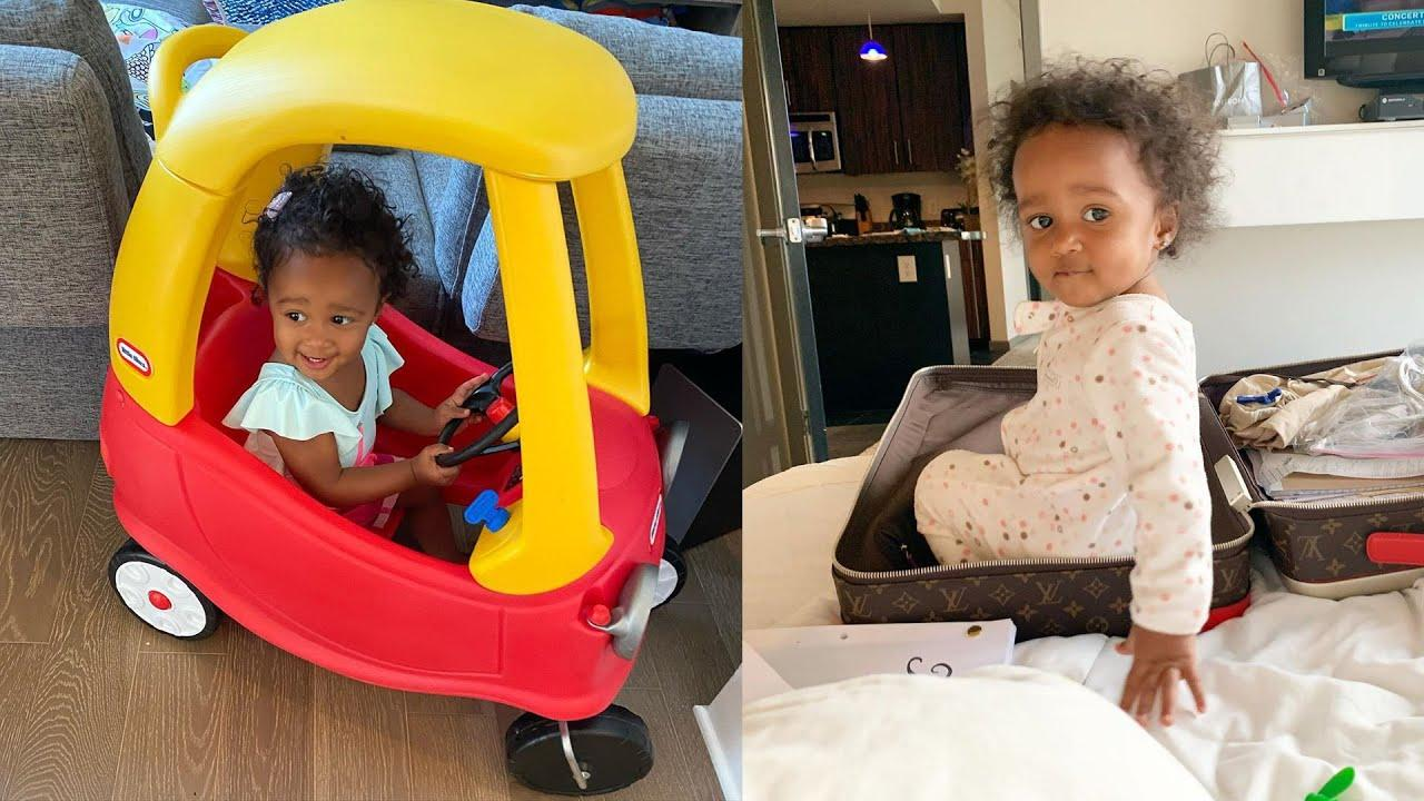 Kenya Moore Is Twinning In White With Her Baby Girl, Brooklyn Daly - Haters Compare Brookie To Porsha Williams' Daughter