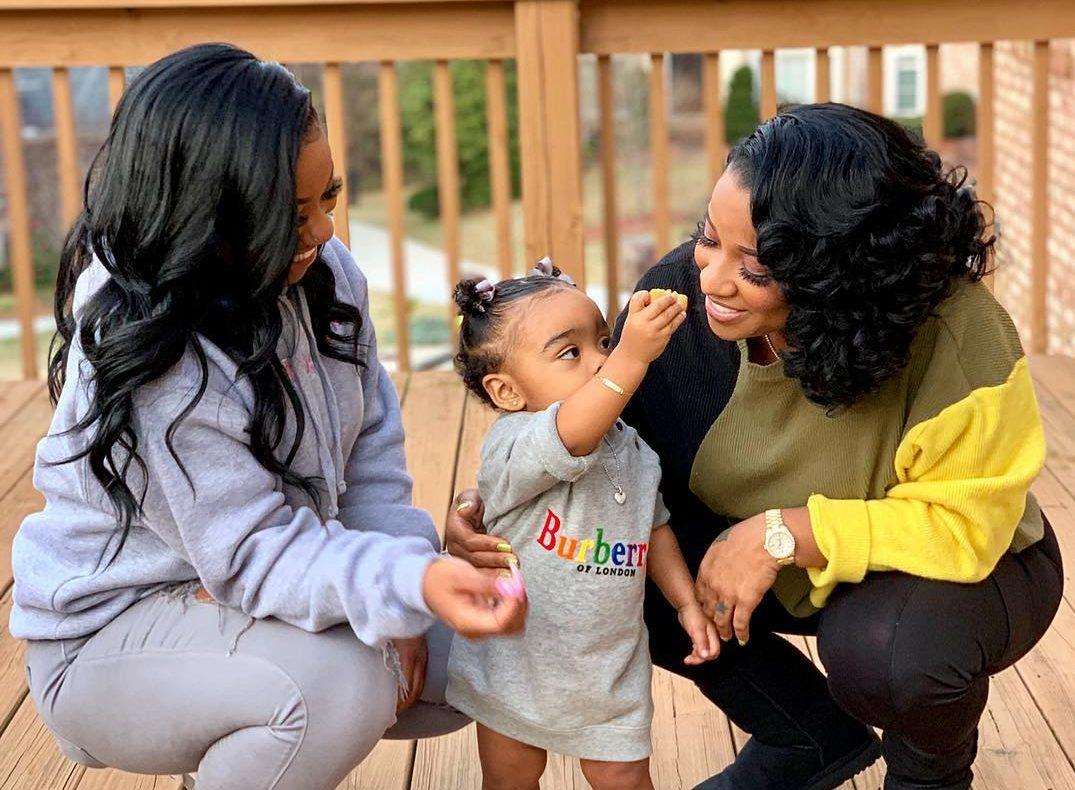 Toya Johnson Is Twinning With Her Daughter Reign Rushing In The Park - Check Out This New Photo Session