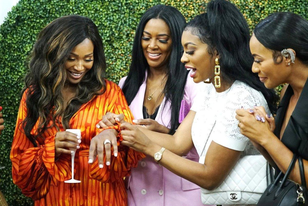 Details Of Cynthia Bailey's Wedding Spill -- Porsha Williams And Dennis McKinley Attended Separately, Kenya Moore And Gizelle Bryant Clash, Tanya Sam A No Show