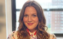 Drew Barrymore Wears A Jean Jumpsuit With Suede Knee-High Boots — See The Look!