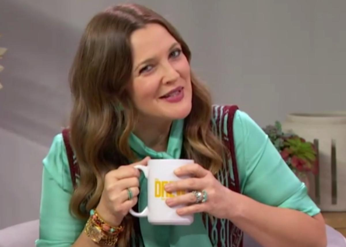 Drew Barrymore Wore A Victoria Beckham Blouse With A Dries Van Noten Vest For A Fabulous Pairing