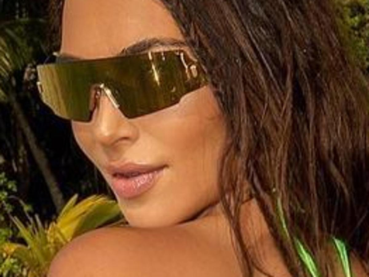 Kim Kardashian Puts Her Enviable Figure On Full Display In Rielli Two-Piece Bathing Suit While In Tahiti
