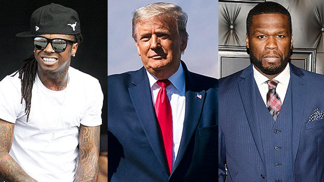 50 Cent Drags Lil Wayne For Taking Pic With Donald Trump After Seemingly Showing The POTUS Support As Well!