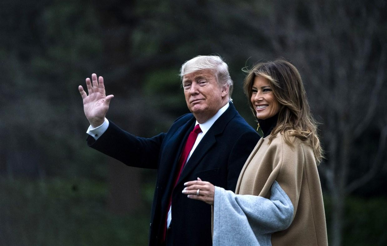 Melania Trump's Big Toothy Smile During Public Appearance Fuels Wild Theory That Donald Trump Was Using A FLOTUS Body Double - '#FakeMelania!'